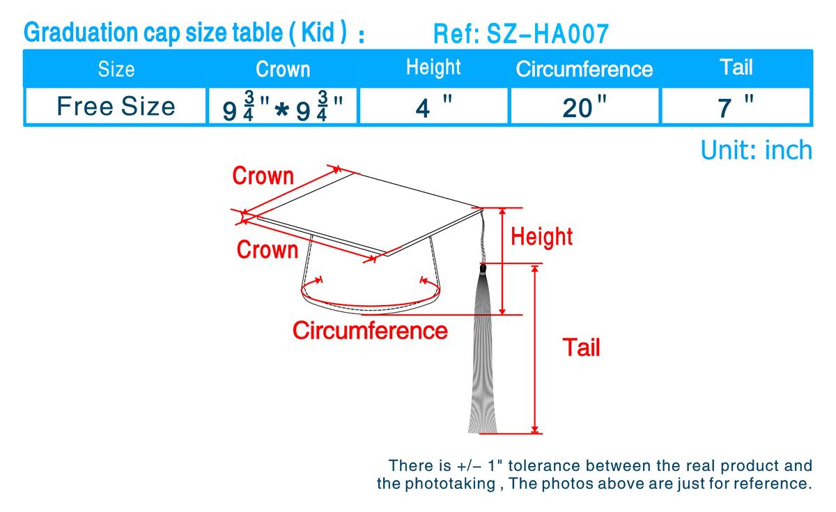 cap hat size chart