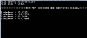 Get minimum Bounding box of shapefile c++ program