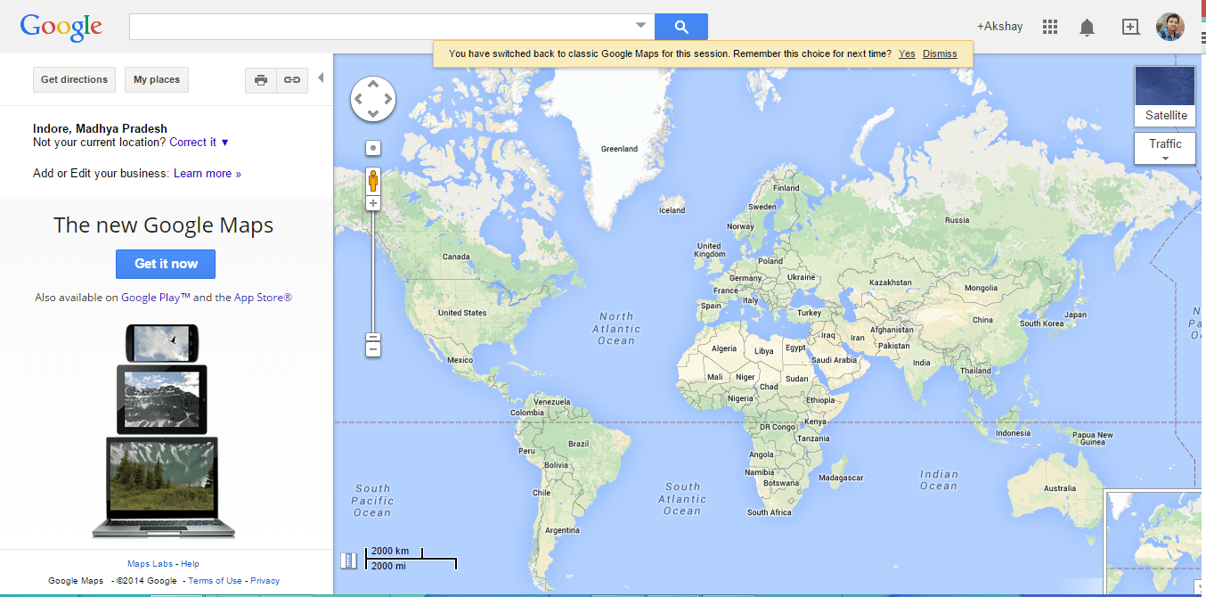 switch between google new map and google old map (classic). between google new map and google old map (classic)