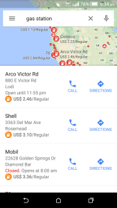 Google Map track Near By Gas Station and Current Prices - Android and iOS App