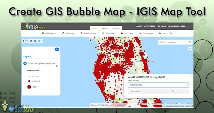 Create GIS Bubble Map – IGIS Map Tool