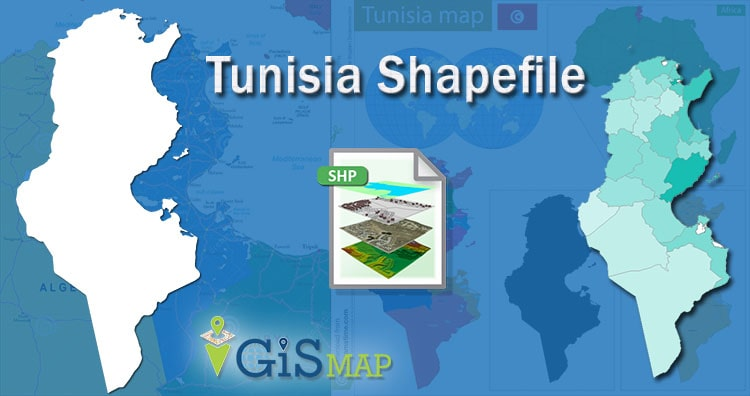 Download Tunisia Shapefile – administrative boundary, polygon shapefile