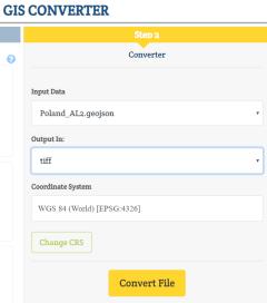 GeoJSON to Tiff - Gis Data Conversion
