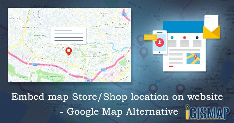 Embed map Store/Shop location on website – Google Map Alternative