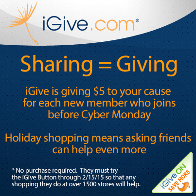 $5 Free for evey new member who tries iGive before Cyber Monday