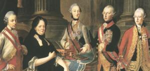 Maria Theresia mit ihren Söhnen
