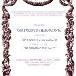 XXIII PREGÓN DE SEMANA SANTA