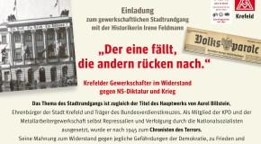 Einladung zum gewerkschaftlichen Stadtrundgang mit der Historikerin Irene Feldmann