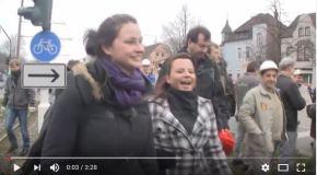 Menschenkette Krefeld 2012 – alle KollegInnen