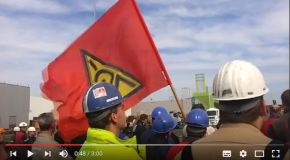 Protest bei Outokumpu – Stahlwerke stehen stundenlang still.