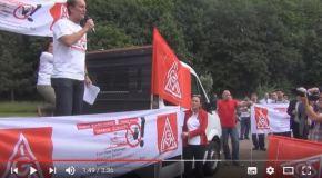 Unsere Herzen gegen die Gier des Kapitalmarkts! Protest bei Daimler geht weiter.
