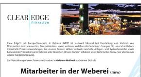 Clear Edge sucht: Mitarbeiter in der Weberei (m/w)