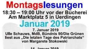 Montagslesungen im Januar 2019