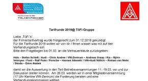 Tarifvertrag für TöFi!