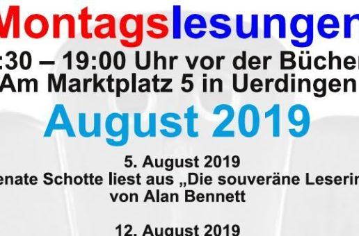 Montagslesungen im August