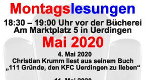Montagslesungen im Mai 2020