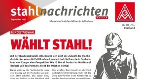 Stahlnachrichten extra für die Bundestagswahl