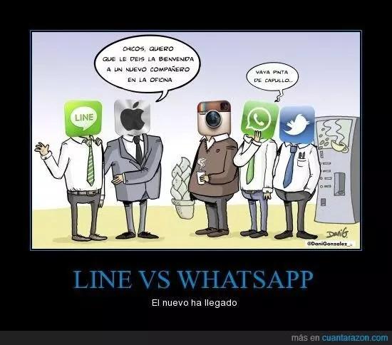 Line Vs WhatsApp - social media
