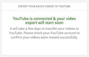 Traspasar los vídeos de Katch a Youtube