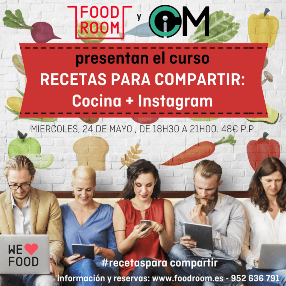 Curso Recetas para Compartir en Instagram - Food Room - #RecetasParaCompartir