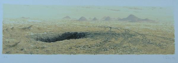 paisaje. Desiertos, serigrafía
