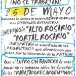 Empleados de Comercio de Rosario no trabajarán durante los Feriados Nacionales