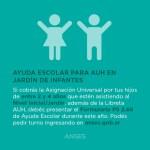 Ayuda escolar para AUH en jardín de infantes
