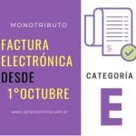 Monotributo: Categoría E ingresa a Factura Electrónica
