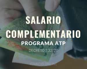 Salario complementario ATP Decreto 332/20