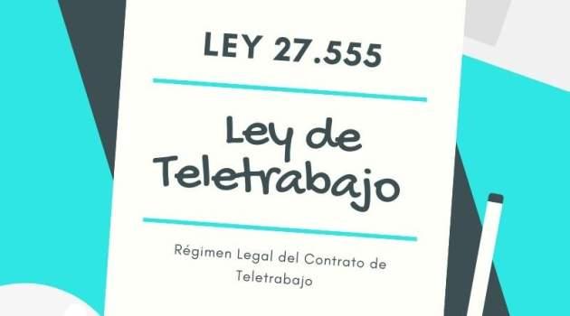 Ley 27555 Teletrabajo Argentina homeoffice