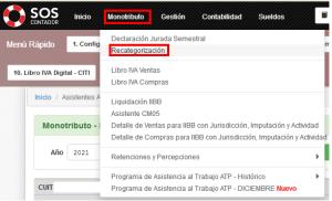 Recategorización de Monotributistas con SOS Contador