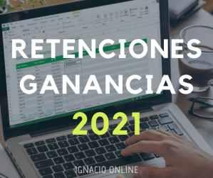 Planilla Excel Calculo de retenciones ganancias categoría Excel gratis nueva versión
