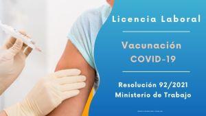Licencia laboral por vacunación