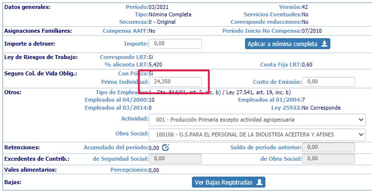 Seguro colectivo de vida obligatorio se incrementa a partir de marzo de 2021. Pasa a 19,03 pesos por empleado