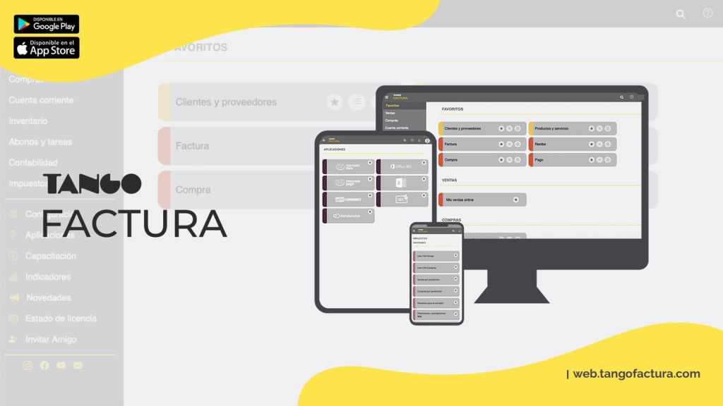 Tango Factura aplicación online gratis de emisión de comprobantes