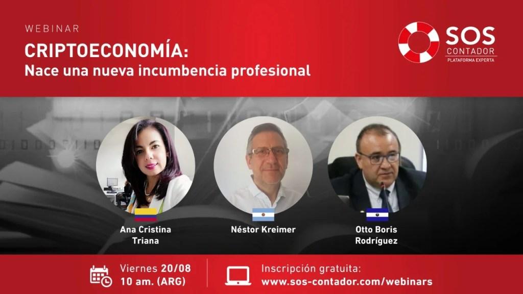"""Webinar """"Criptoeconomía, nace una nueva incumbencia profesional"""". Invita SOS Contador"""