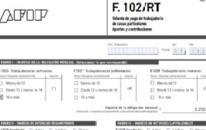 Formulario 102 RT Mayo 2021