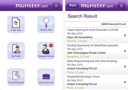 Monster Jobs App