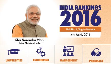 India Rankings 2016 PM