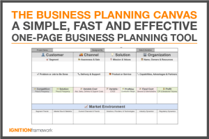 Business Planning Canvas Thumbnail