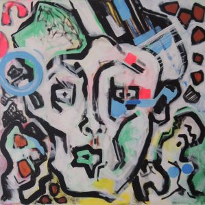 Abstract Painting Of A Face