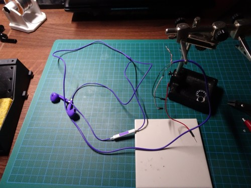 small resolution of i hooked everything up one common switch and the audio wires hooked up to the stereo wired headphones