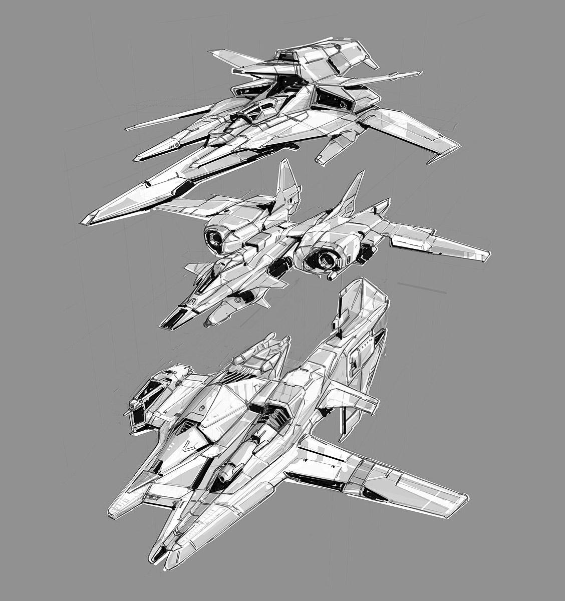 Futuristic Spaceships Blueprint
