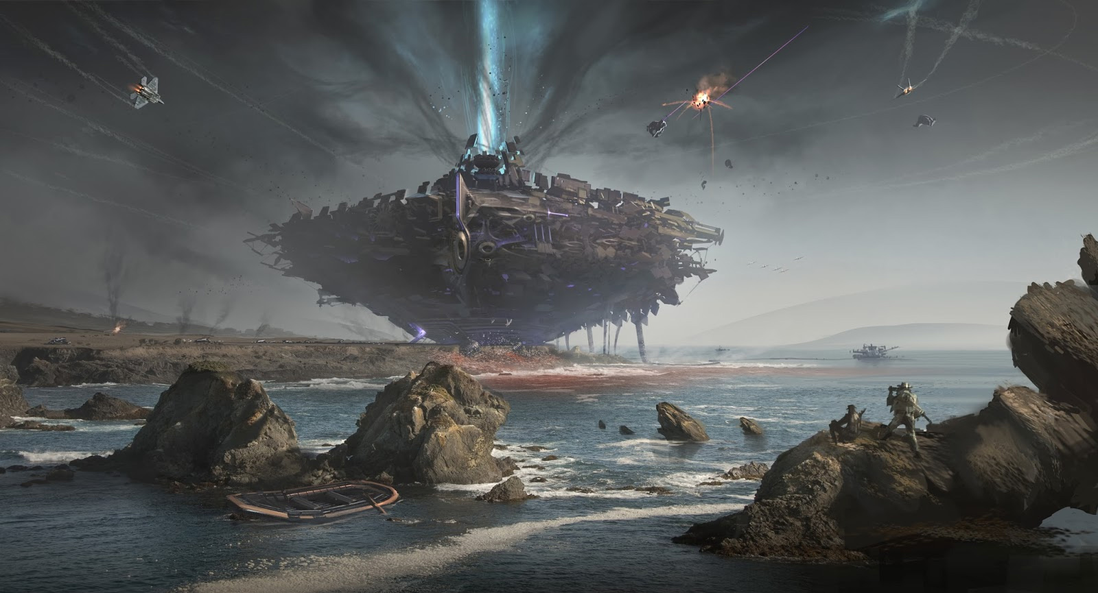 Killzone Shadow Fall Wallpaper 1080p Concept Ships Concept Spaceship Art By Annis Naeem