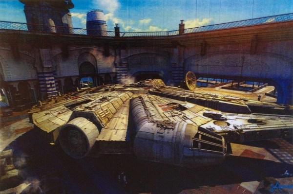 Star Wars Millennium Falcon Concept Art
