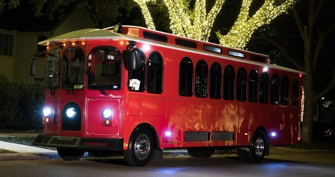 Grand Prairie Lights Christmas Light Tour Trolley