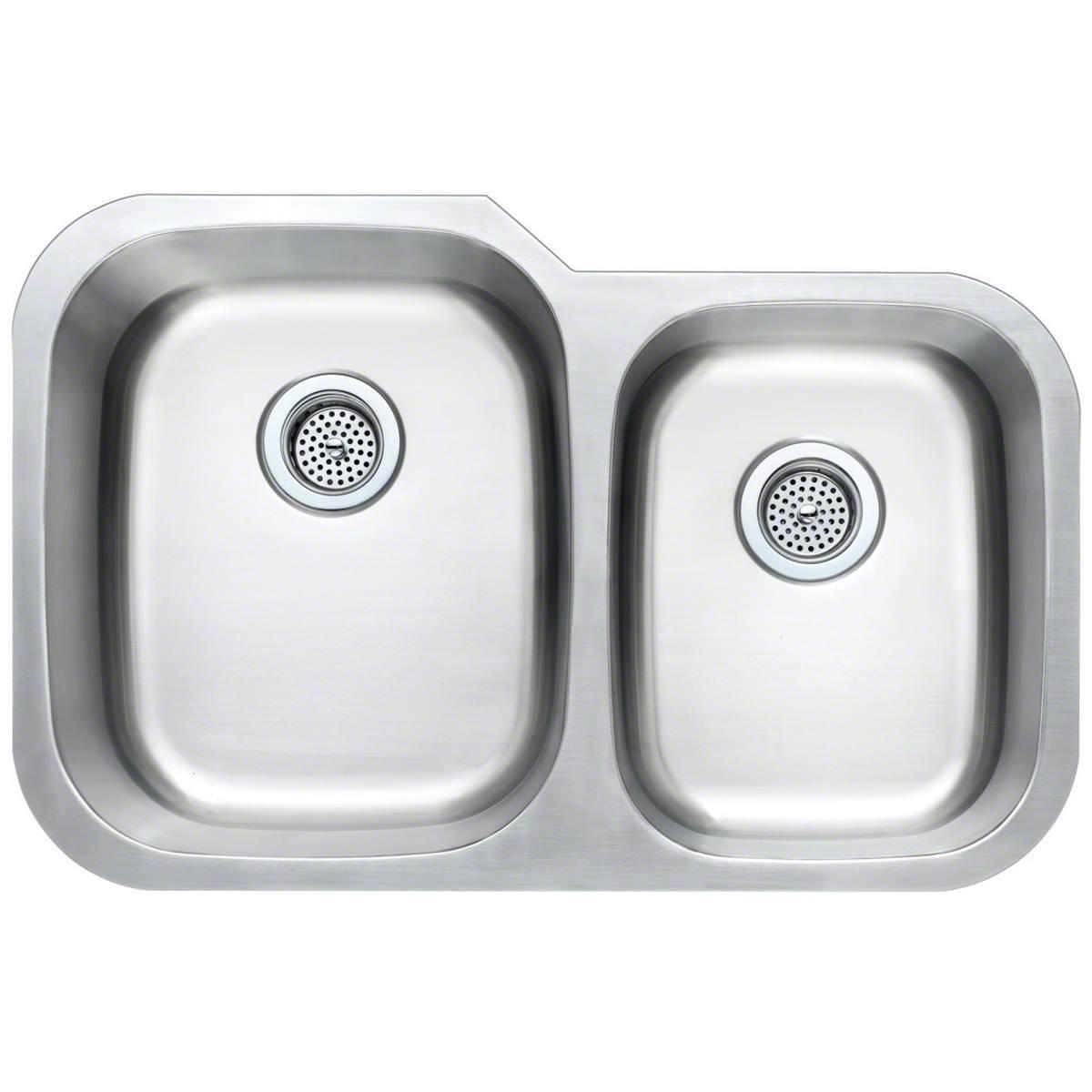 stainless steel 60 40 undermount sink