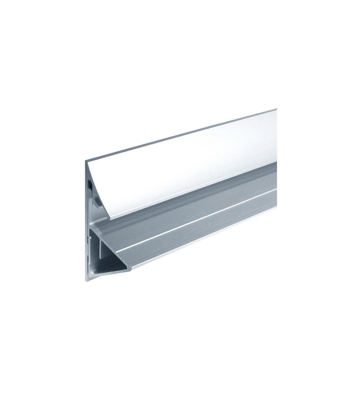 profil aluminium support tablette en verre d epaisseur 12 a 17 52 mm