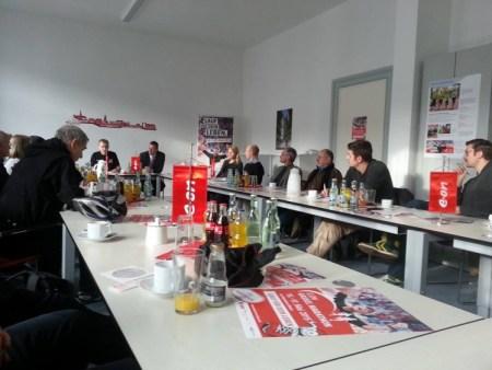 Erste Pressekonferenz zum E.ON Kassel Marathon 2015 bei Titelsponsor E.ON mit vielen interessanten Themen.