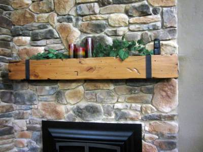 Custom Fireplace Mantel and Shelf Montana Design